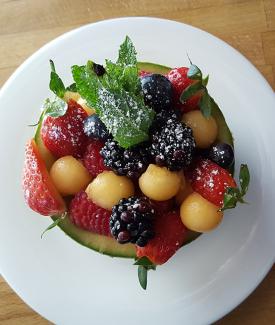 Fruit Salad In An Ogen Melon