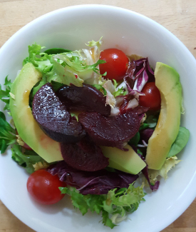 Mixed Salad With Avocado & Beetroot