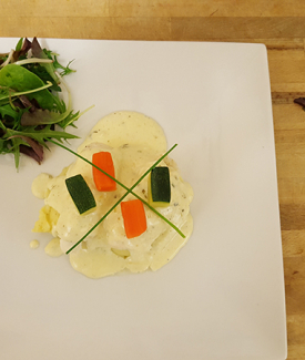 Poached Fillet Of Sole In A White Wine Sauce