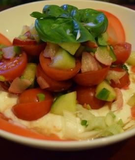 Cottage Cheese & Tomato Salad